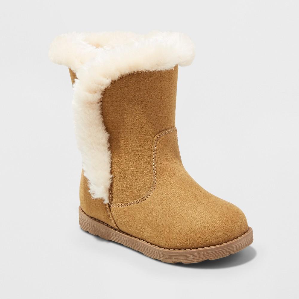 Toddler Girls Katrina Fleece Cozy Fashion Boots - Cat & Jack Tan 6
