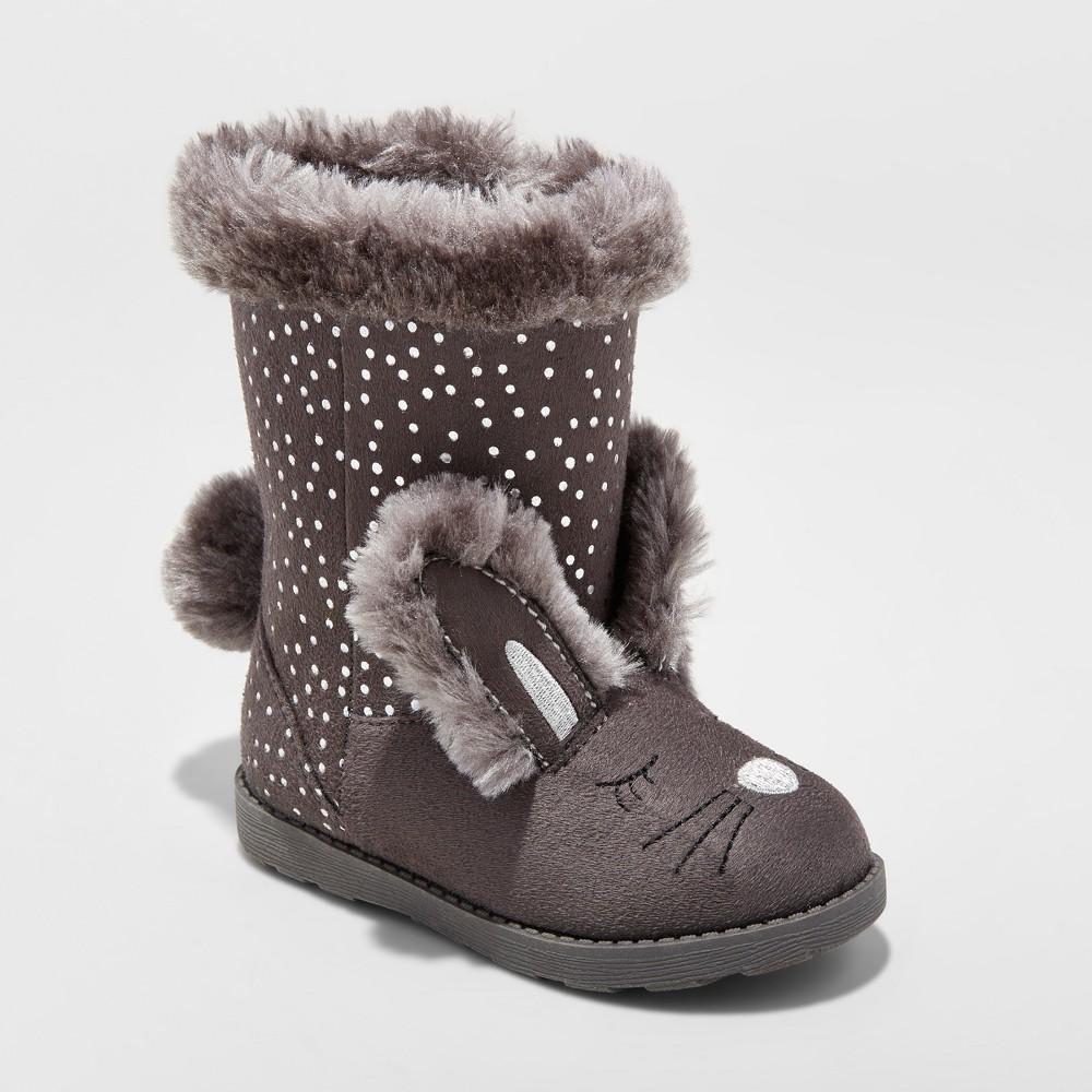 Toddler Girls Kori Bunny Cozy Fashion Boots - Cat & Jack Gray 12