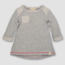 Burt's Bees Baby® Toddler Girls' Loop Terry Pocket A Line Dress - Heather Gray