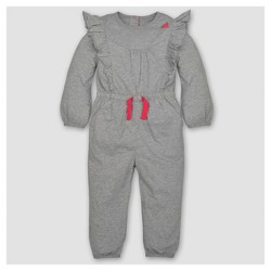 Burt's Bees Baby® Toddler Girls' Ruffled Bubble Jumpsuit - Heather Gray