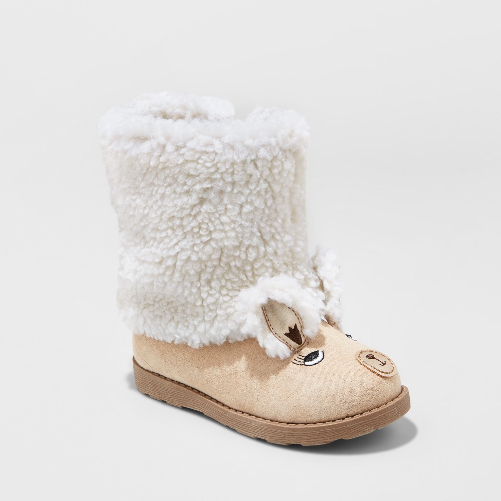 Toddler Girls Kelli Lama Cozy Fashion Boots - Cat & Jack Tan 5, Beige