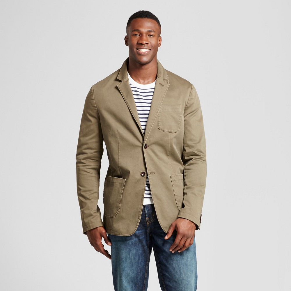 Mens Big & Tall Standard Fit Deconstructed Blazer - Goodfellow & Co Olive (Green) 2XBT