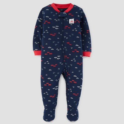 Baby Boys' Little Hero Cotton Sleep N' Play - Just One You™ Made by Carter's® Navy 3M