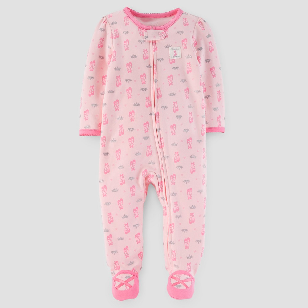 Baby Girls Dancer in Training Cotton Sleep N Play - Just One You Made by Carters Pink 6M