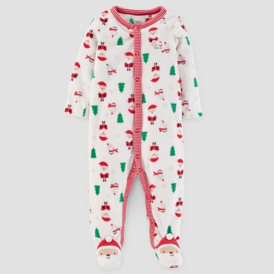 Baby's Christmas Print Fleece Sleep N' Play - Just One You™ Made by Carter's® Cream 6M