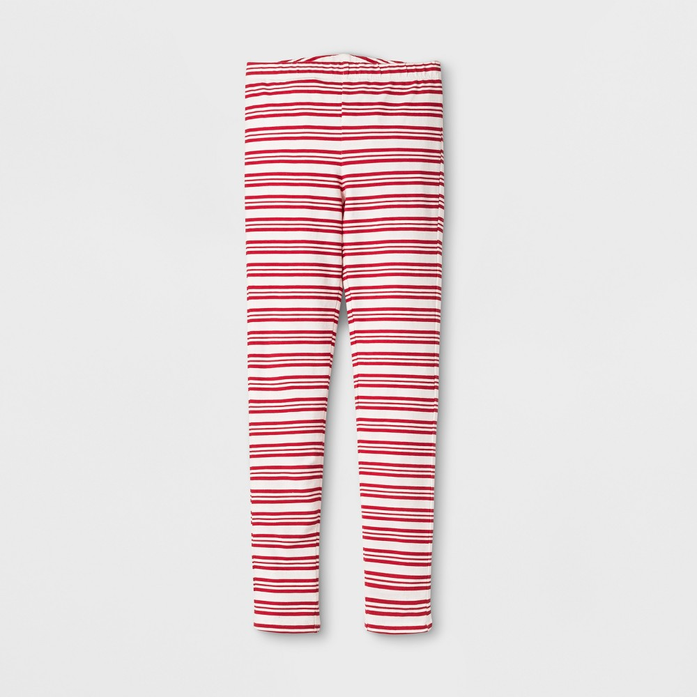 Happy by Pink Chicken Girls Candy Cane Leggings - Red, Size: 12