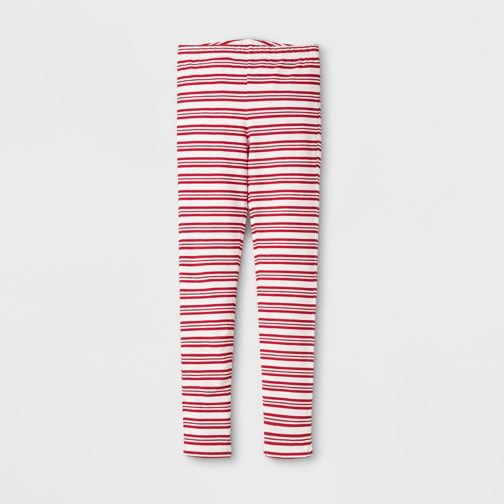 Happy by Pink Chicken Girls Candy Cane Leggings - Red 8