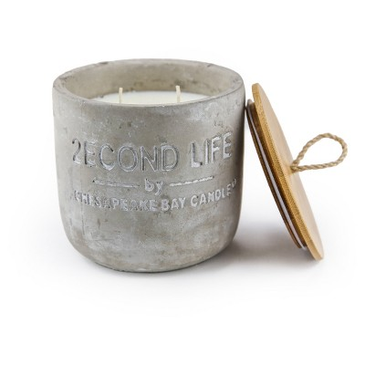 Concrete Jar Candle Bamboo Palm 17.3oz - 2econd Life by Chesapeake Bay Candle