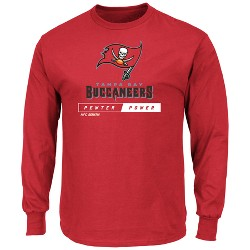 Tampa Bay Buccaneers Men's Team Logo Long Sleeve T-Shirt