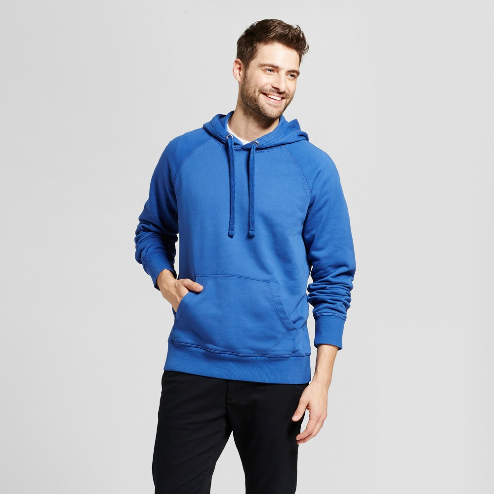 Mens Standard Fit Long Sleeve Hooded Sweatshirt - Goodfellow & Co Royal Blue Xxl