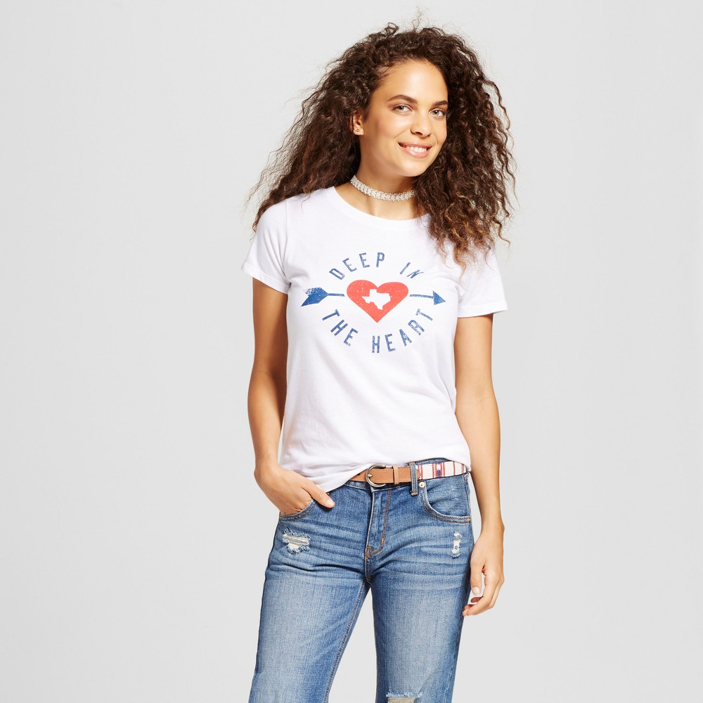 Womens Texas Deep In The Heart T-Shirt White XS - Awake