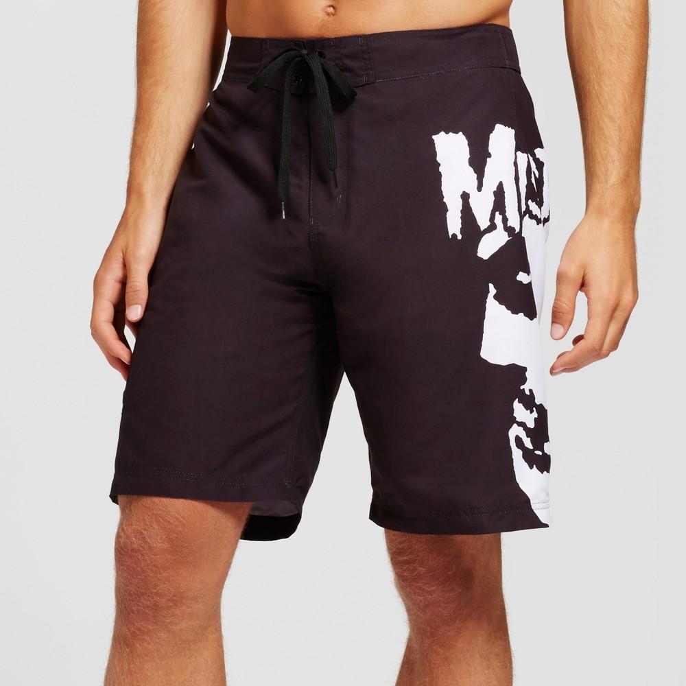 Mens Misfits Side Skull Board Shorts Black S