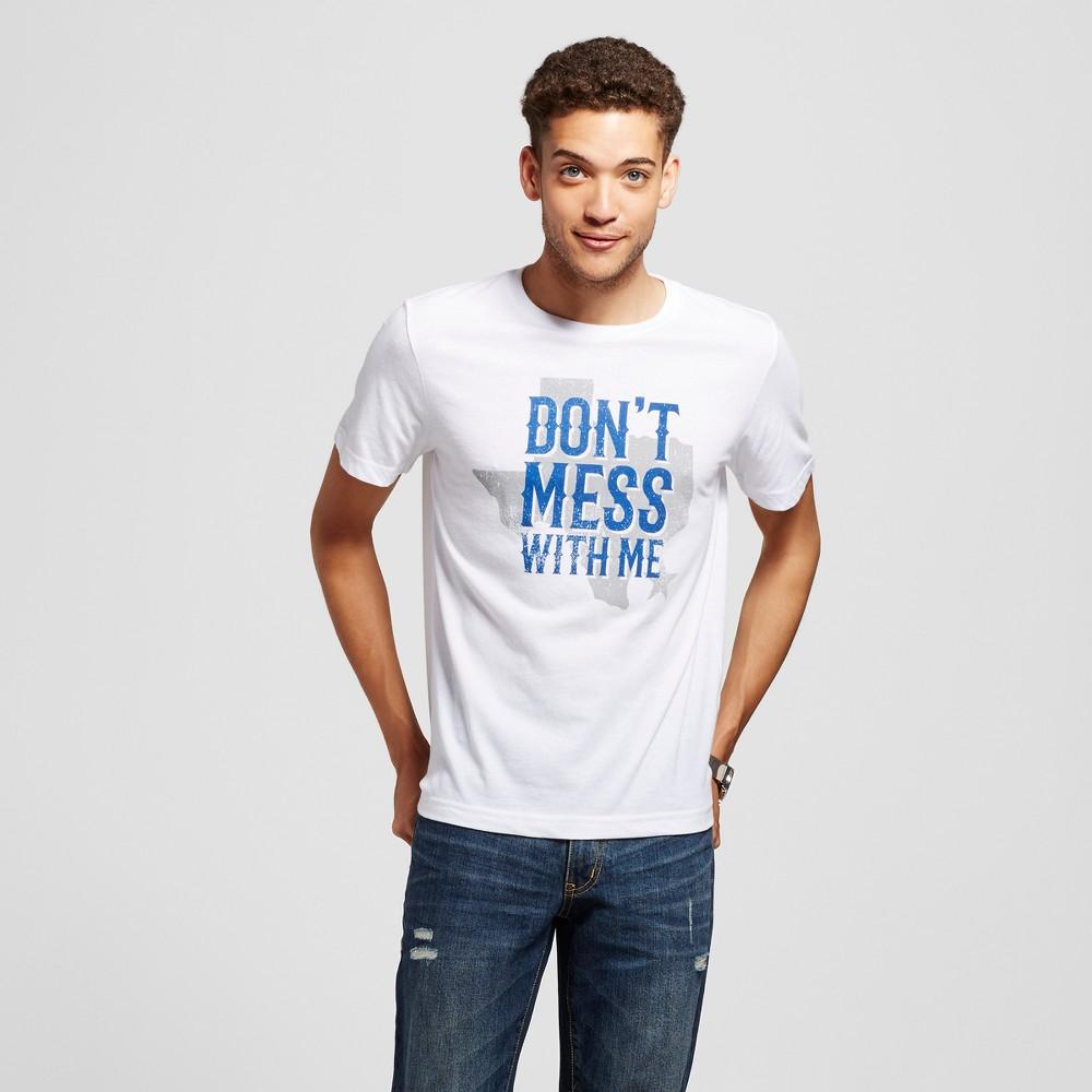 Mens Texas Dont Mess With Me T-Shirt White S - Awake