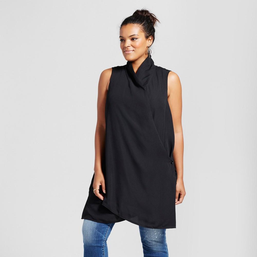 Womens Plus Size Top Black 2X - 3Hearts (Juniors)