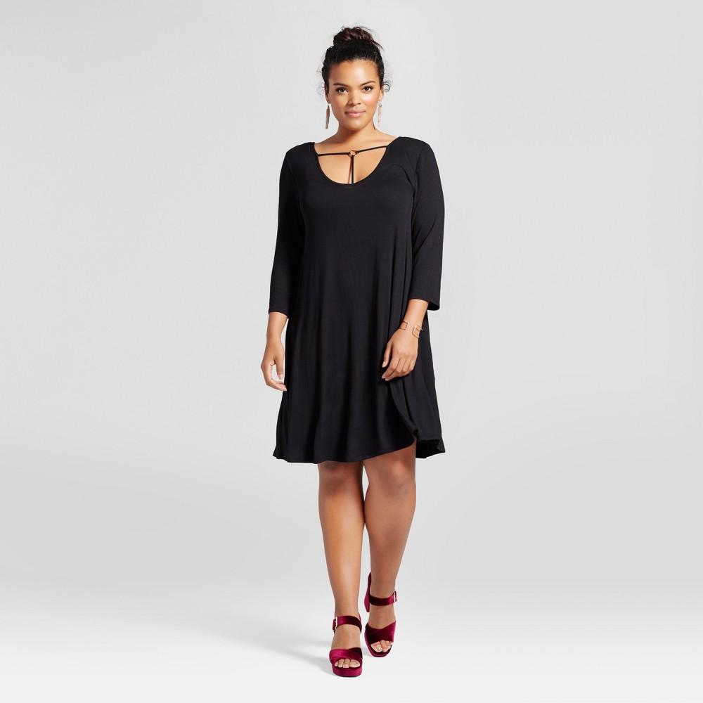 Womens Plus Size T-Back Dress Black 2X - 3Hearts (Juniors)