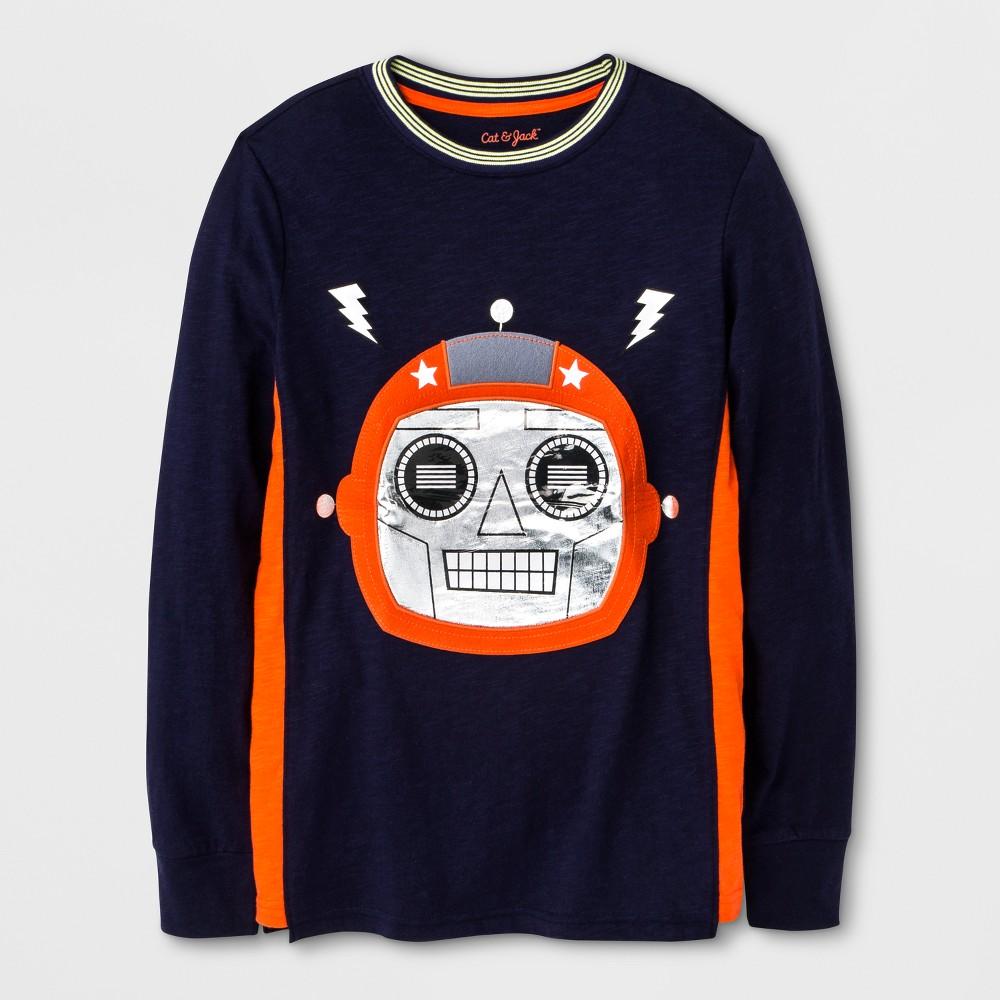Boys Long Sleeve T-Shirt - Cat & Jack Blue Xxl