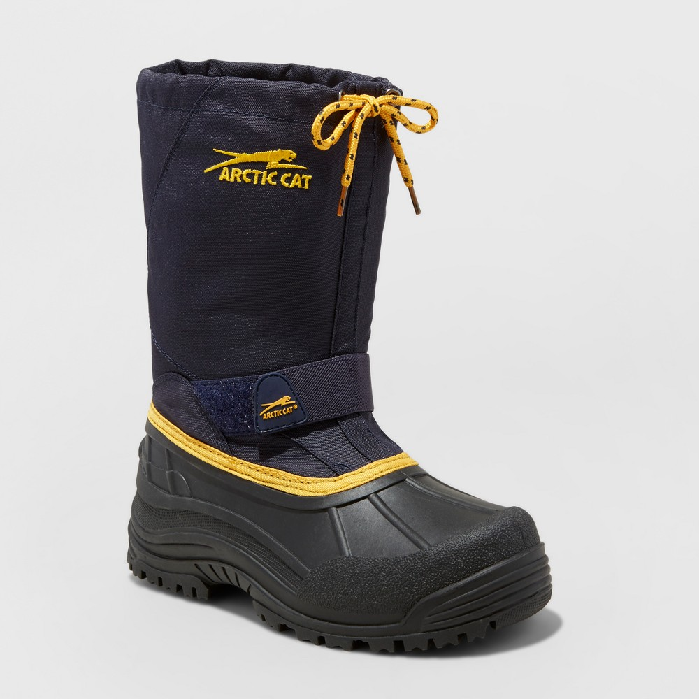 Boys Arctic Cat Snowshower Winter Boots - Navy 2, Blue