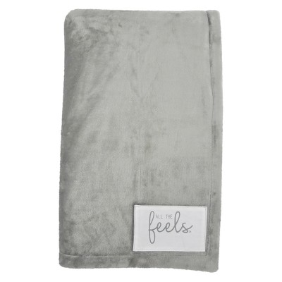 Plush Reversible Bed Blanket Twin Ash - All The Feels™