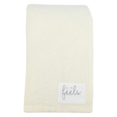 Plush Reversible Bed Blanket Full/Queen White - All The Feels™