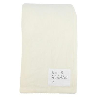 Plush Reversible Bed Blanket King White - All The Feels™