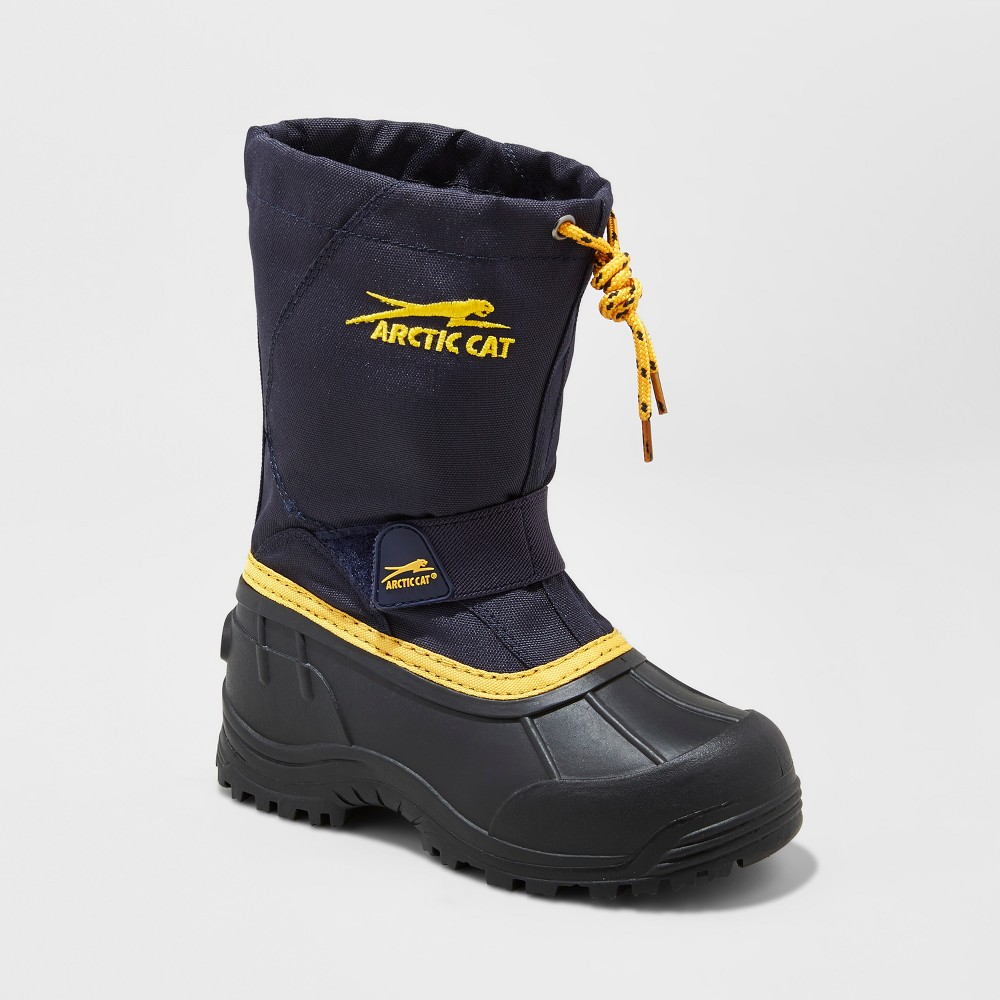Toddler Boys Arctic Cat Snowshower Winter Boots - Navy 10, Blue