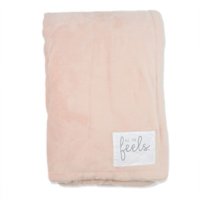 Plush Reversible Bed Blanket King Blush - All The Feels™