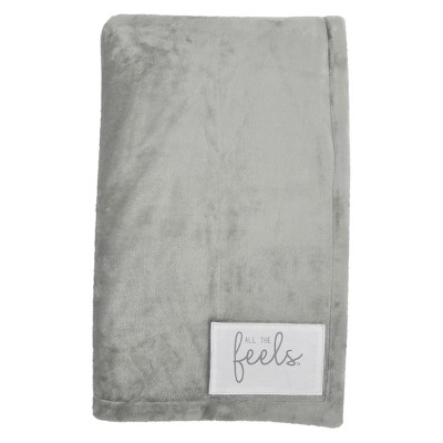 Plush Reversible Bed Blanket King Ash - All The Feels™