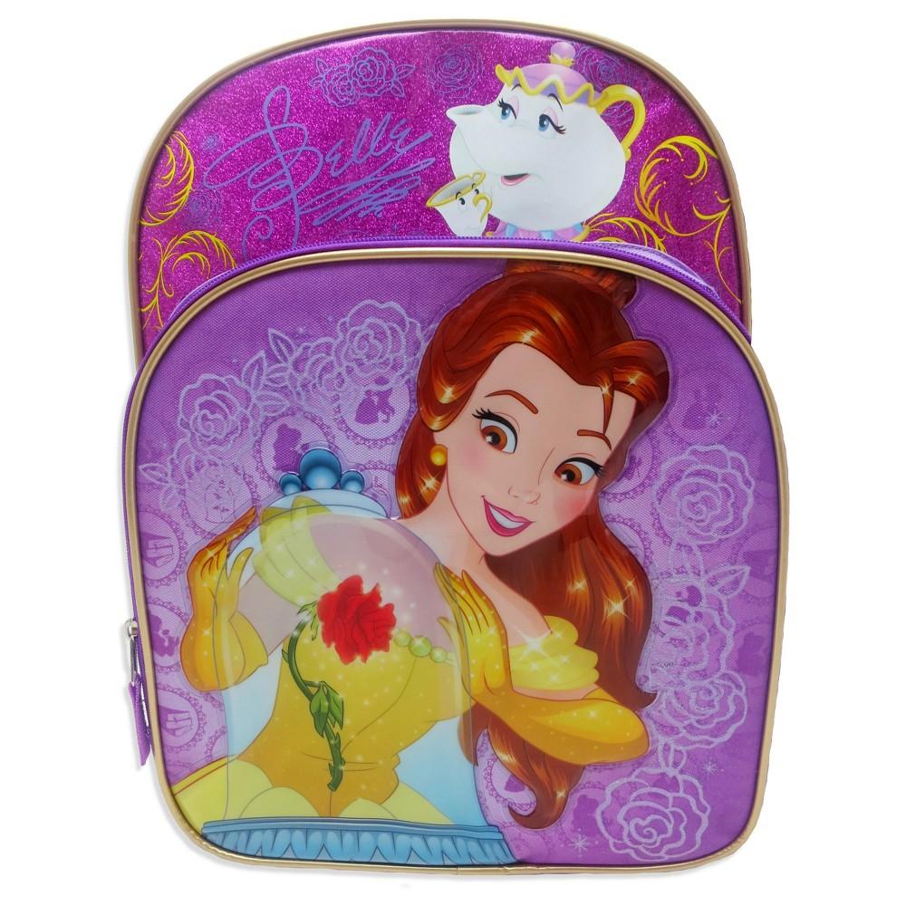 Beauty and the Beast 16 Kids Backpack, Purple