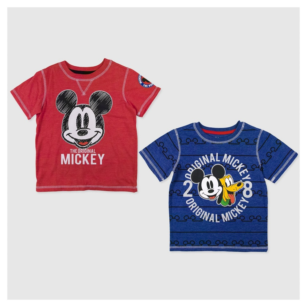 Toddler Boys Mickey Mouse Short Sleeve T-Shirt - 4T, Multicolored