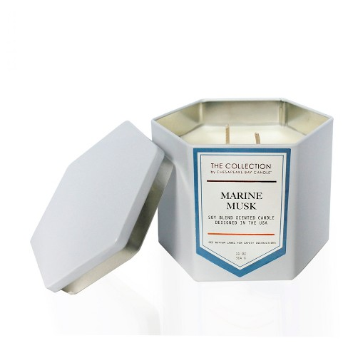 Hexagon White Tin Candle - Marine Musk - 11oz - The Urban Collection by Chesapeake Bay Candle - image 1 of 1