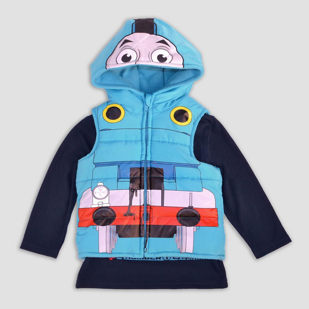 Toddler Boys Thomas & Friends Costume Vest And Shirt Set - 3T, Multicolored