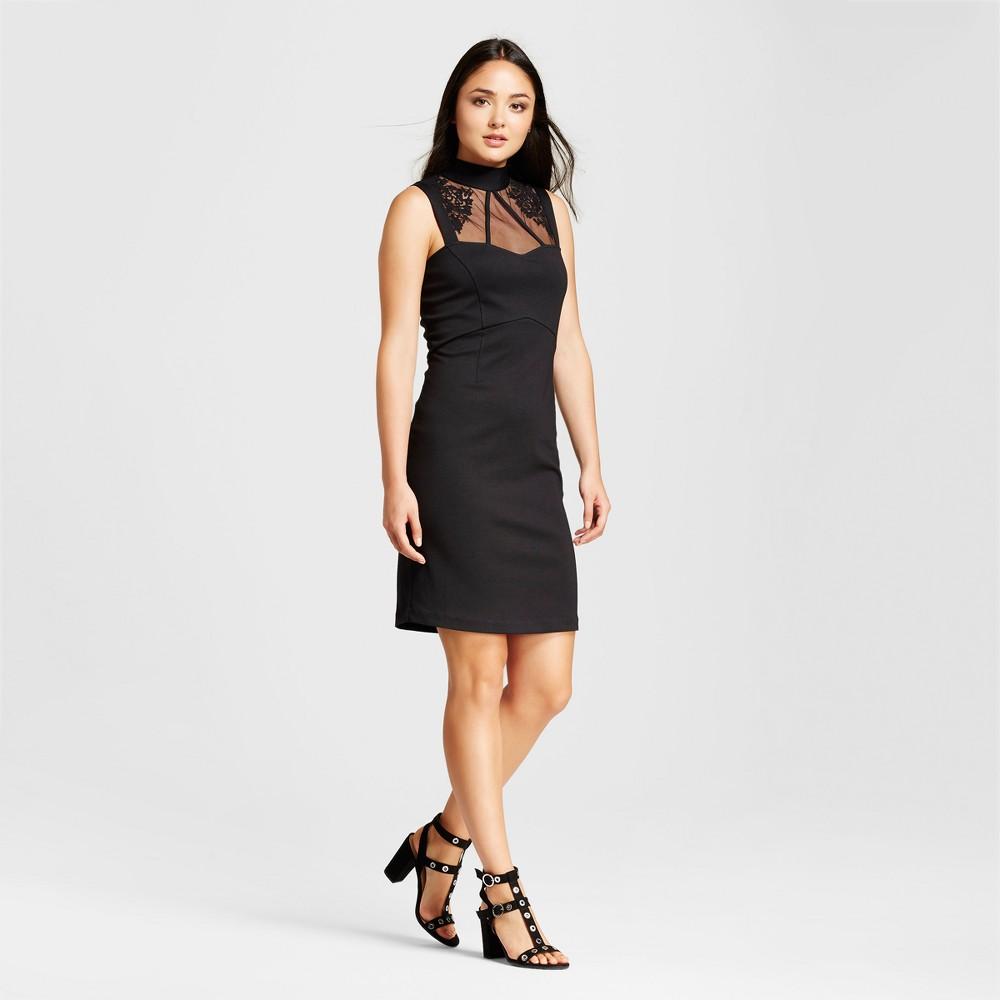 Womens Sleeveless Lace Cutaway Midi Dress - Alison Andrews - Black M
