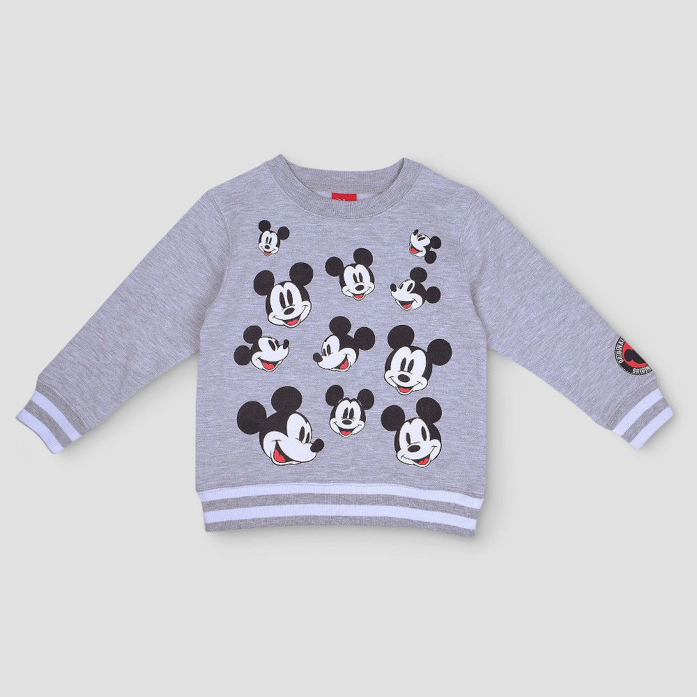 Toddler Boys Mickey Mouse Sweatshirt - Gray 3T