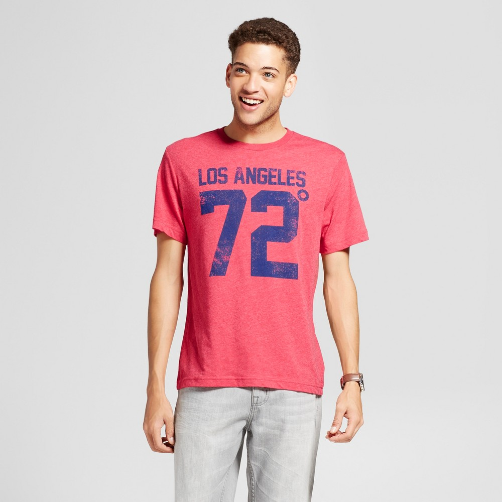 Mens California LA 72 T-Shirt Red M - Awake