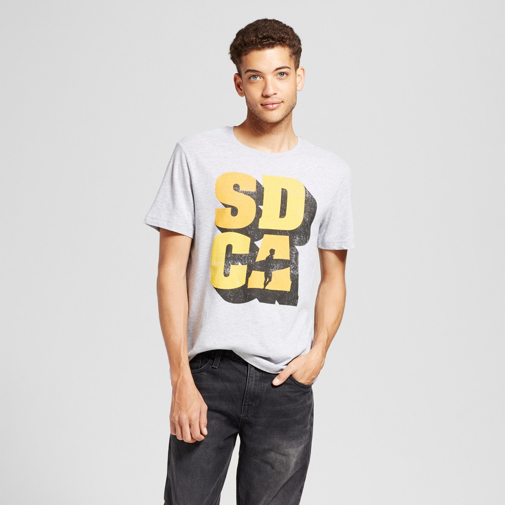 Mens California SD CA Surf T-Shirt Gray Xxl - Awake