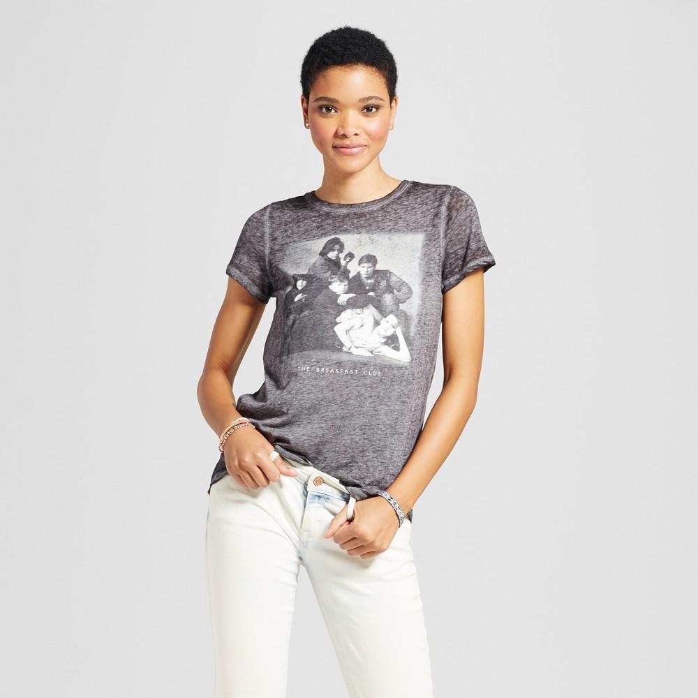 Womens The Breakfast Club Graphic T-Shirt Black S (Juniors)