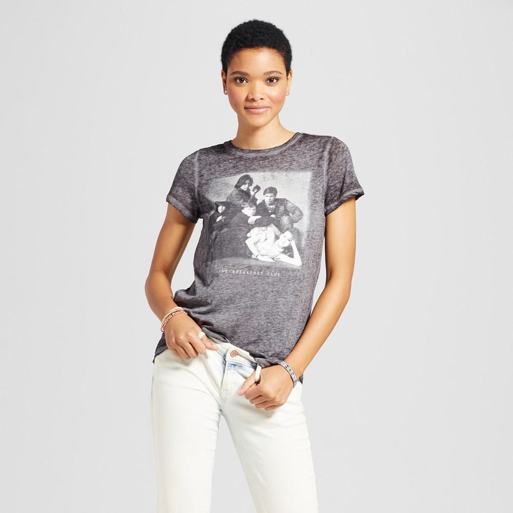 Womens The Breakfast Club Graphic T-Shirt Black L (Juniors)