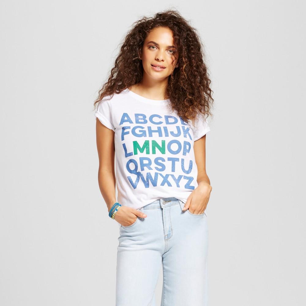 Womens Minnesota Alphabet T-Shirt White Xxl - Awake