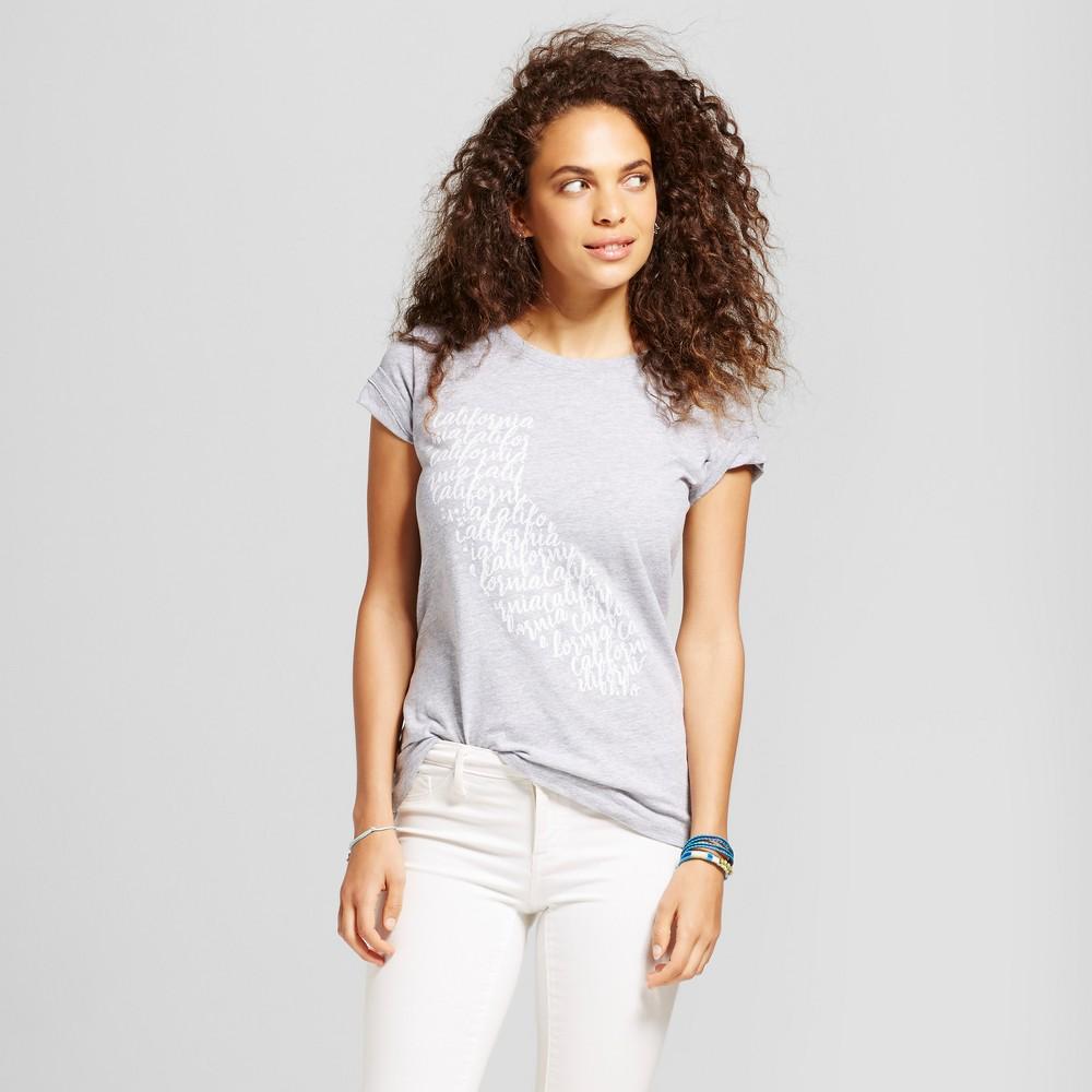 Womens California Calligraphy T-Shirt Gray XL - Awake