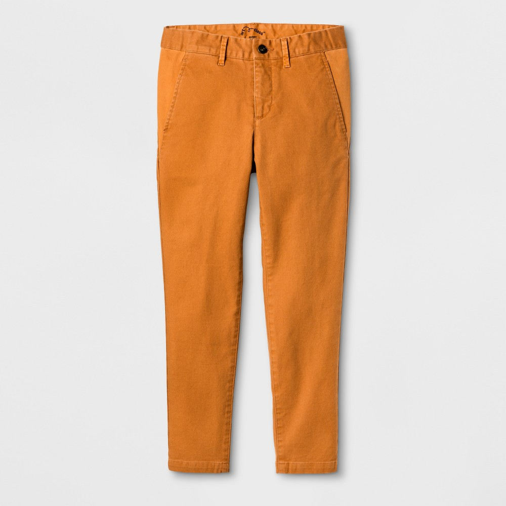 Boys Chino Pants - Art Class Orange 7