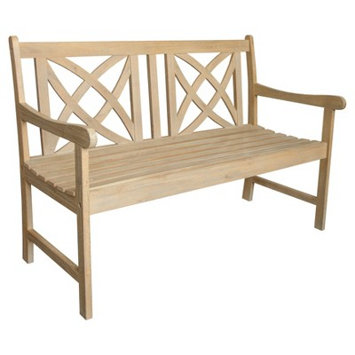 Beverly Outdoor 4-foot Garden Bench in Sand-Splashed Finish - Vifah