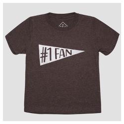 Toddler Boys' No. 1 Fan Short Sleeve T-Shirt - Heather Charcoal
