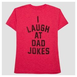 Men's I Laugh At Dad Jokes Short Sleeve T-Shirt - Red