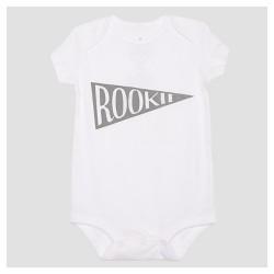 Baby Rookie Baby Short Sleeve Bodysuit - White