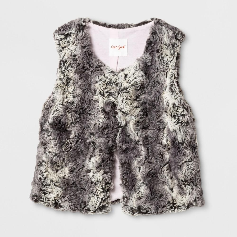 Girls Faux Fur Vest - Cat & Jack Gray L