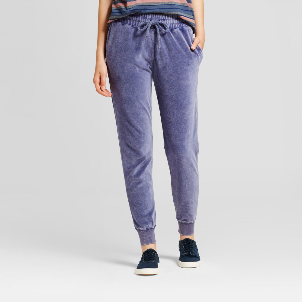 Womens Velour Jogger - Mossimo Supply Co. Washed Navy L