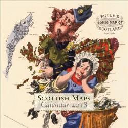 Scottish Maps Calendar 2018 (Paperback)