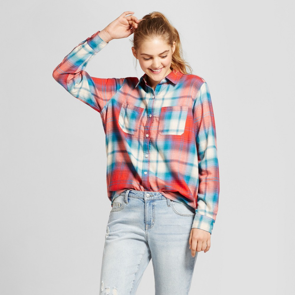 Womens Plaid Flannel Shirt - Mossimo Supply Co. Red S