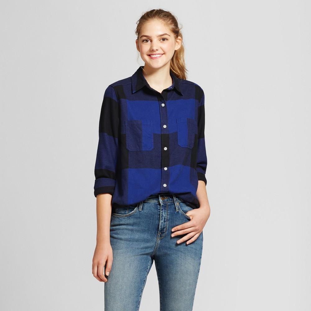 Womens Plaid Flannel Shirt - Mossimo Supply Co. Blue S