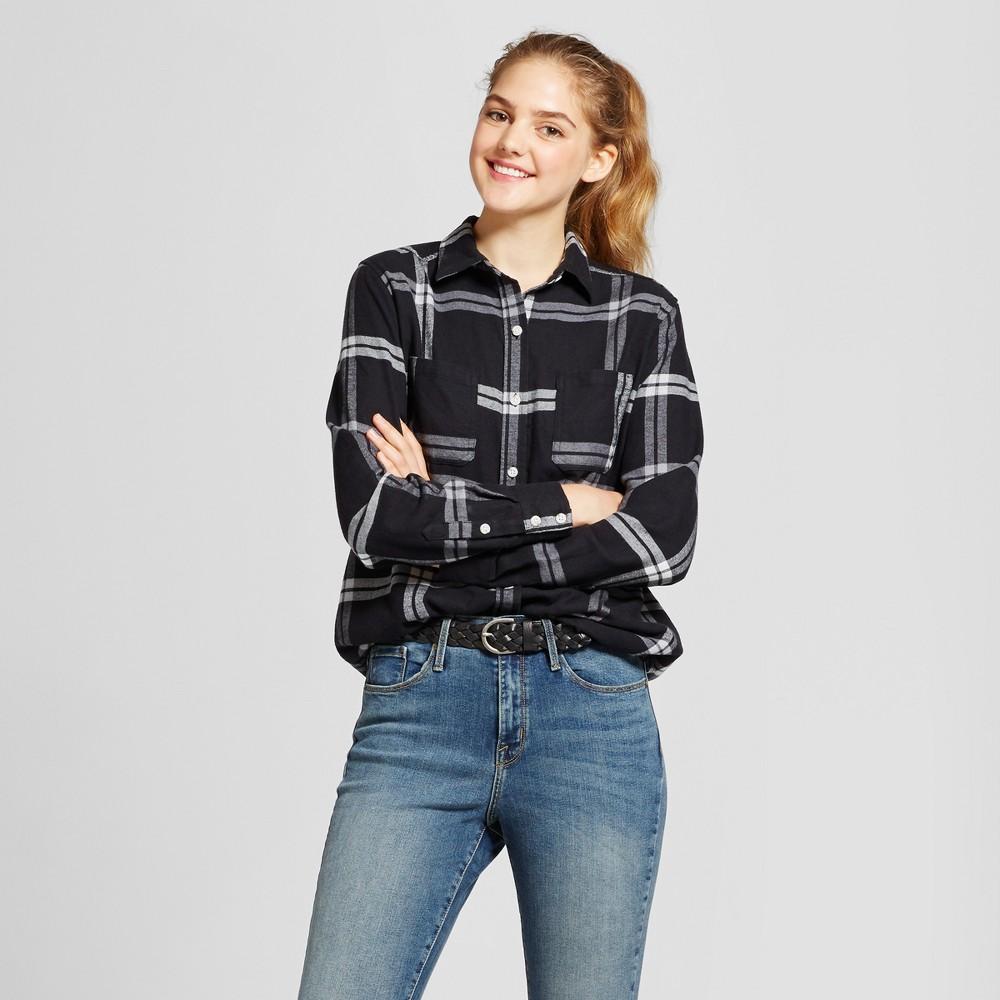 Womens Plaid Flannel Shirt - Mossimo Supply Co. Black S